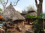 Besuch in einem Dorf bei Konso
