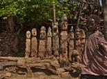 die Stammestotems des Ortes