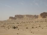schöne Wüstenlandschaft neben der Autobahn
