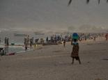 Morgens ist am Strand die Hölle los