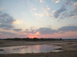 Abendstimmung am Luangwa River