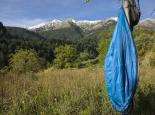 Blick auf das Taygetos Gebirge