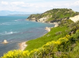 Das Kap Rhodon an Albaniens Küste