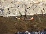 und baden in der Gumpe vor dem WoMo