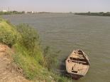 Zusammenfluss von weißem und blauem Nil