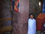 in den Felsenkirchen von Lalibela