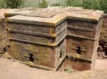 die bekannteste Kirche in Lalibela