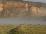 ... liegt der Nebel noch im Tal