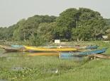 idyllische Boote auf Ssese-Island