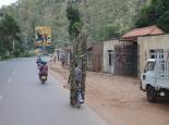 Straßenszene auf dem Weg nach Kigali