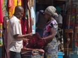bunter Markt in Mwanza