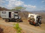 Pause an der Leopard-Hill-Road