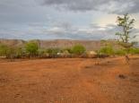 das Himba-Dorf, das wir besucht haben