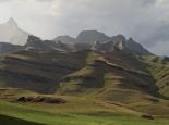 Blick vom Camping Platz auf den Rhino Peak