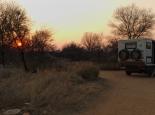 Erster Sonnenuntergang in Afrika nach der Pause