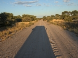 Fahrt in den Central Kalahari NP