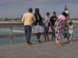 afrikanische Familie beim Sonntagsausflug