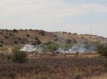 Holzkohle-Herstellung, neu in Namibia, aber nicht gut